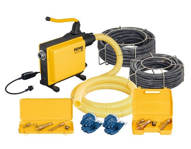 Eлектрическа машина за почистване на тръби REMS Cobra 32